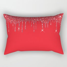 red glitter Rectangular Pillow