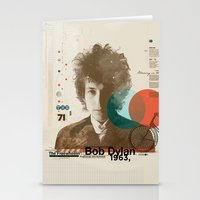 bob dylan Stationery Cards featuring Bob Dylan by Azlif