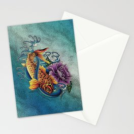 Golden Koi Stationery Cards