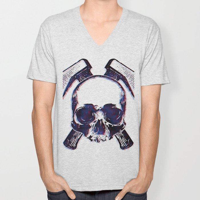 Axe Skull Unisex V-Neck