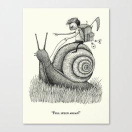 'Full Speed Ahead!' Canvas Print
