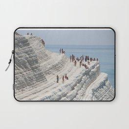 Rocky cliff Scala dei Turchi, Sicily, Italy Laptop Sleeve