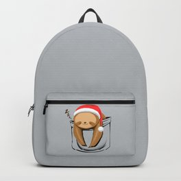 Sloth in a Pocket Xmas Backpack