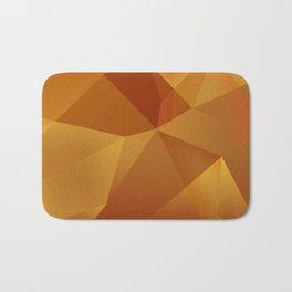 Geometric Pattern - Layered Sunburst Warm Earth Colours Bath Mat