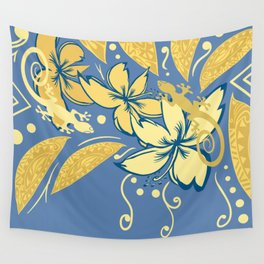 Samoan Orchid Sunset Polynesian Floral Wall Tapestry