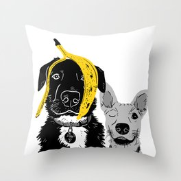 Banana Jokes Throw Pillow