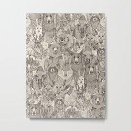 canadian animals natural Metal Print