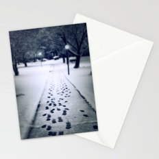 Footsteps in the Snow Stationery Cards