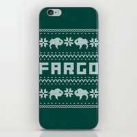 sweater iPhone & iPod Skins featuring Fargo Sweater by Mandrie