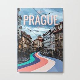 Visit Prague Metal Print