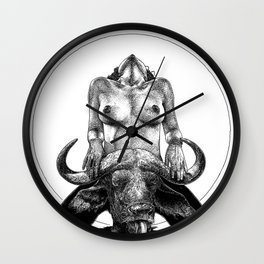 asc 729 - La lune de chasse (Two went in. I came out) Wall Clock