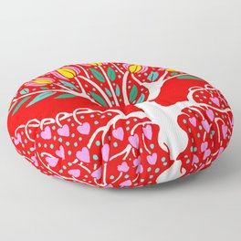 Love Grows Forever - Tomato Red Floor Pillow