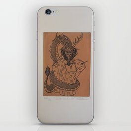 Draco constrictor (possitive) iPhone Skin