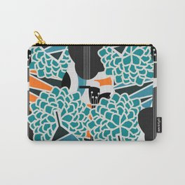 Guitars, flowers and leaves Carry-All Pouch