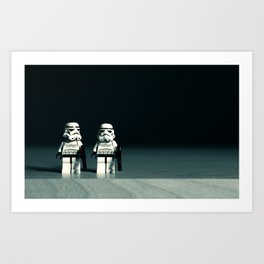 lego stromtroopers Art Print