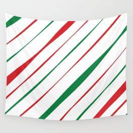 Christmas Stripes Wall Tapestry