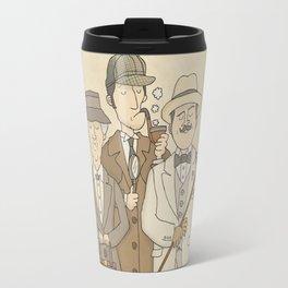 The Detectives - Miss Marple, Sherlock Holmes, Hercule Poirot Travel Mug