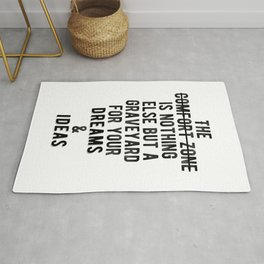 Inspiring - Outside Your Comfort Zone Quote Rug