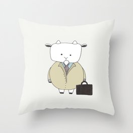 Businessman Goat - Greatest Of All Time Throw Pillow