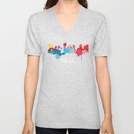 Manila Cityscape Watercolor Unisex V-Neck