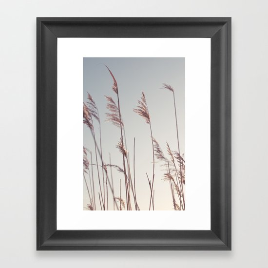 winter dies... Framed Art Print