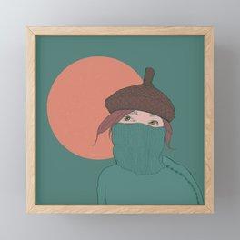 acorn girl Framed Mini Art Print