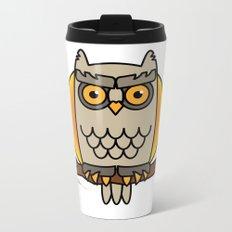 Owl in a Circle Metal Travel Mug