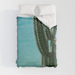 Tropical Cactus Ocean Beach Vibes #2 #tropical #wall #art #society6 Comforters
