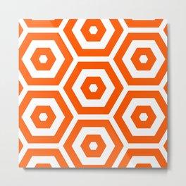 Pop Art Colour Based Hexagon Pattern Metal Print