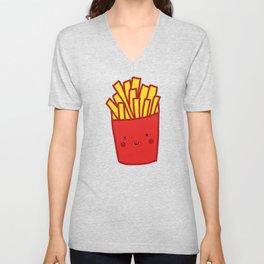 Kawaii French Fries Unisex V-Neck