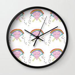 Mr Rainbow Heart Wall Clock