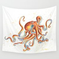 octopus Wall Tapestries featuring Octopus by Patrizia Ambrosini