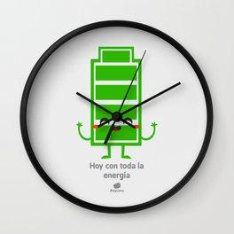 Hoy con toda la energia Wall Clock