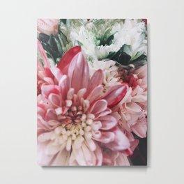 Glitter Bouquet Metal Print