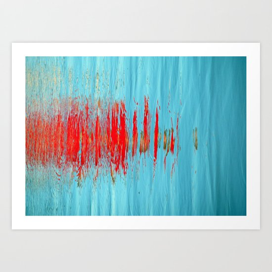 Slash of Red Art Print