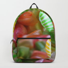 Multi-Colored Striped Candy Backpack