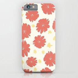 Hand drawn florals iPhone Case