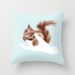 a friend in my hand 4 Throw Pillow