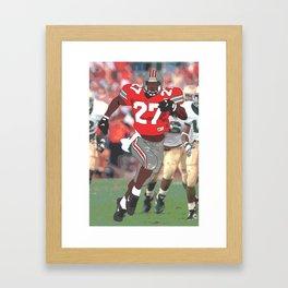 Ohio State Buckeyes - Eddie George (1995) (Vector Art) Framed Art Print