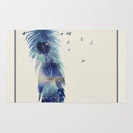Feather Birds in Flight Rug