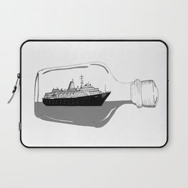 ship in a bottle . Artwork (  https://society6.com/vickonskey/collection ) Laptop Sleeve