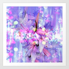 LILY IN LILAC AND LIGHT Art Print