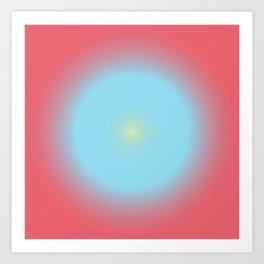 Gradient Cirkel V1 Art Print