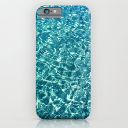 Clear water blue iPhone Case