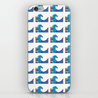 hokusai iPhone & iPod Skins featuring Hokusai Rainbow_Bs by FACTORIE