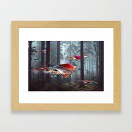 Electric Stingray World Framed Art Print