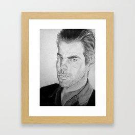 Zachary Quinto - Sylar Framed Art Print