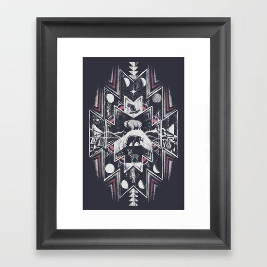 Phases (Dark) Framed Art Print