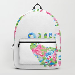 Chicken Mom Colorful Floral Chickens Hen Backpack