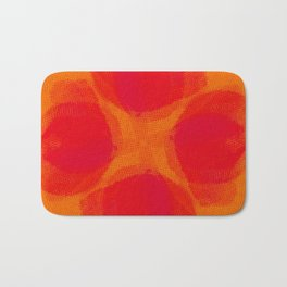 orange and flowers pattern Bath Mat